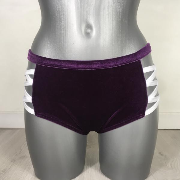 Cross Short Velours Violet et Blanc