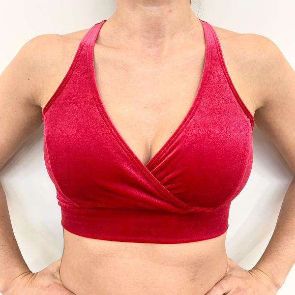 Ballet Top Velours Rouge